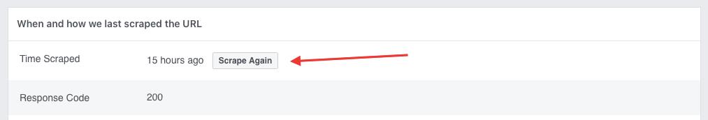 Facebook debug scrape again