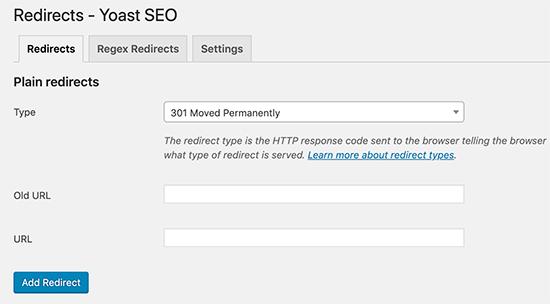 WordPress SEO Redirects