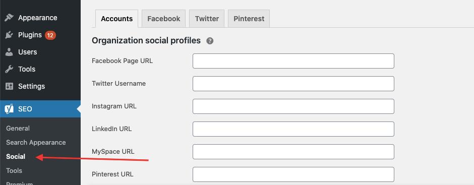 WordPress SEO Social Tab