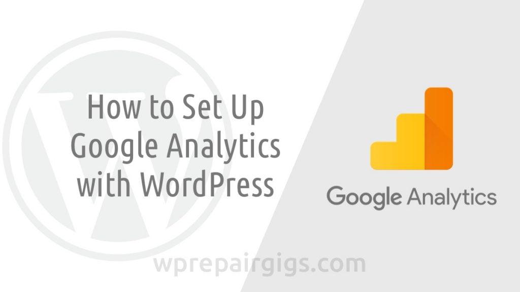 Google Analytics with WordPress