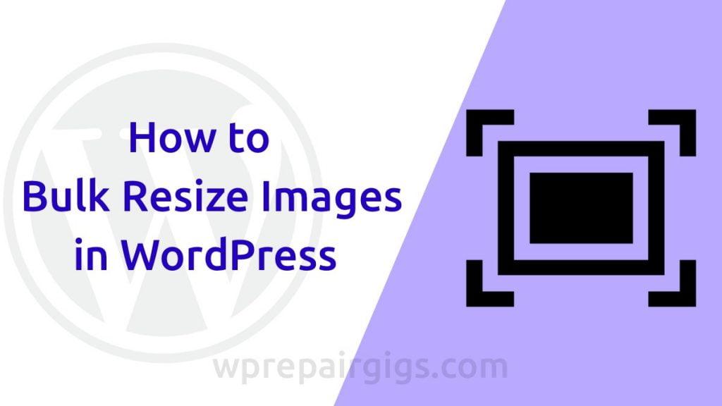 Bulk Resize Images
