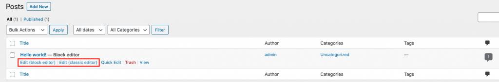WordPress Editor Options